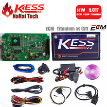 DHL Free 2017 KESS V2 5.017 ECU Programmer KESS 5.017 Master No Token Limit For Cars&Truck Internet Safe 140 Protocol(China)