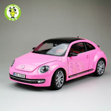 1:18 Scale VW Volkswagen,New Beetle,Diecast Car Model,Welly FX models,Pink(China)