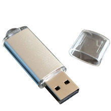 Aluminum Alloy Shell USB Flash Pen Drive 8GB 16GB 32GB U Disk External Storage Bright Color Key Pendant Memory Stick
