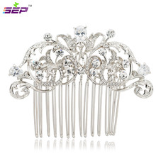 Clear Rhinestone Crystals Hair Comb Bridal Hairpin Women Wedding Hair Jewelry Accessories 2253R(China)