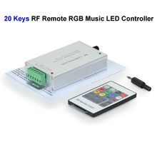 2pcs 12V 20 Keys RGB Music LED Controller Sound Sensor With RF Remote Control For SMD 3528 5050 RGB LED Strip