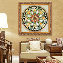 Flower home decor wall clock decoration Diamond Painting Cross Stitch painting calligraphy 5D Diamond Mosaic  Diamond Embroidery