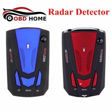 Latest Blue/Red Color Russian English Voice 360 Degree Anti Police Radar Detector V7 For Car Speed Limited Car Radar Detector(China)