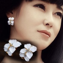 ER250 Gardenia earrings Korea fashion exaggerated earrings girl jewelry