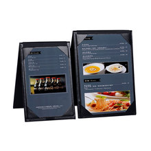 NEW Design Table Top Restaurant Menu Holder Restaurant Menu Folder Leather Menu Display Hotel Advertising High Quality