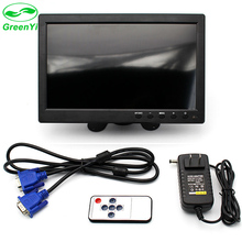 "GreenYi 10.1"" TFT LCD Color Thin 2 Video Input PC Audio Video Display VGA HDMI AV Interface Monitor Screen with Remote Control"