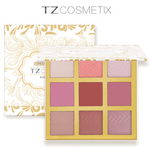 Brand 9 Colors Face Blush Palette Face Cheek Blush In Shimmer Powder Dual Use For Eyeshadow TZ Make Up Cosmetic Drop Shipping(China)