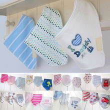 2017 Baby Girls Boys Kids Feeding Bibs 3Pcs Saliva Towel Triangle Head Scarf Bandana(China)