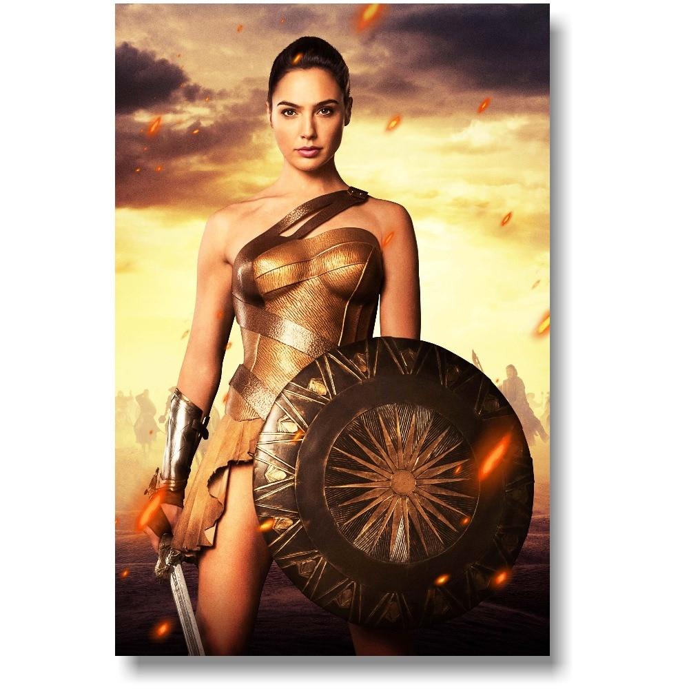 P501 Art Decor Gal Gadot Beauty Model Wonder Woman Movie Star Silk Poster