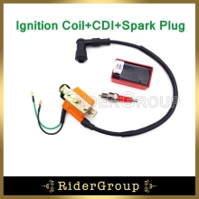 Pit Dirt Motor Bike Racing Ignition Coil A7TC Spark Plug AC CDI Box For 50cc 70cc 90cc 110cc Engine Chinese ATV Quad 4 Wheeler