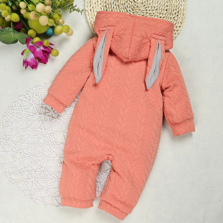2017 Autumn Winter baby boys clothes Newborn Animal Rabbit thick thin baby Jumpsuit Children Outerwear Baby Warm Hooded Rompers<br><br>Aliexpress