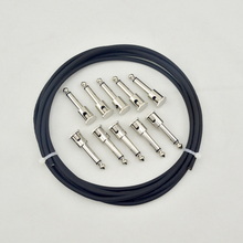New DIY guitar patch Cable Solder-free kit  Pedalboard  10ft 10 Mono Plugs  in Black For guitar PEDAL