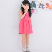Cotton  flying sleeves girl Korean vest  children 's clothing spring and summer new factory direct sales