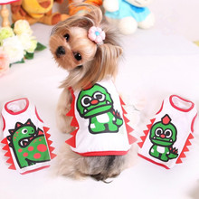 2016 Funny Costumes Pet Vest Dog Dinosaur Jumpsuit Dog Cat Clothes Coat Jacket Dog Hoodies Puppy Jersey Small Dogs 1
