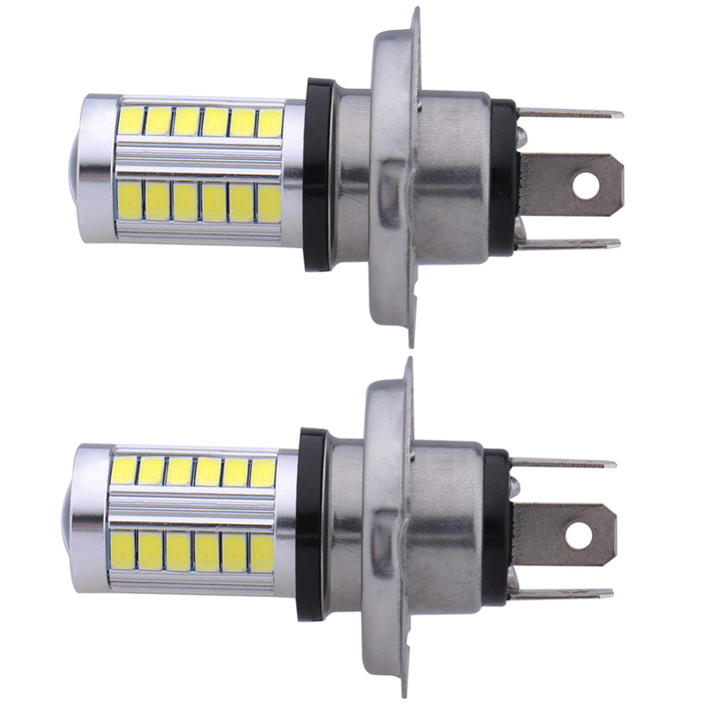 2016 Newest 2x H4 33 SMD 5630 LED 10W Convex Len Car Driving Fog Head Light Lamp Bulb White 12V<br><br>Aliexpress