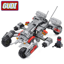 GUDI Earth Border Fighter Blocks 296pcs Bricks Educational Assemble Building Block Sets Educational Toys For Children