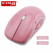 CHYI Wireless Mouse Computer Mouse Left Scroll Optical USB Mice 3D 1600DPI Gaming Mice Pink Computer Mause for PC Laptop(China)