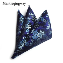 Mantieqingway Brand Handkerchief Floral Dot Pocket Squares for Men Fashion Paisley Casual Orange Square Pocket Handkerchiefs(China)