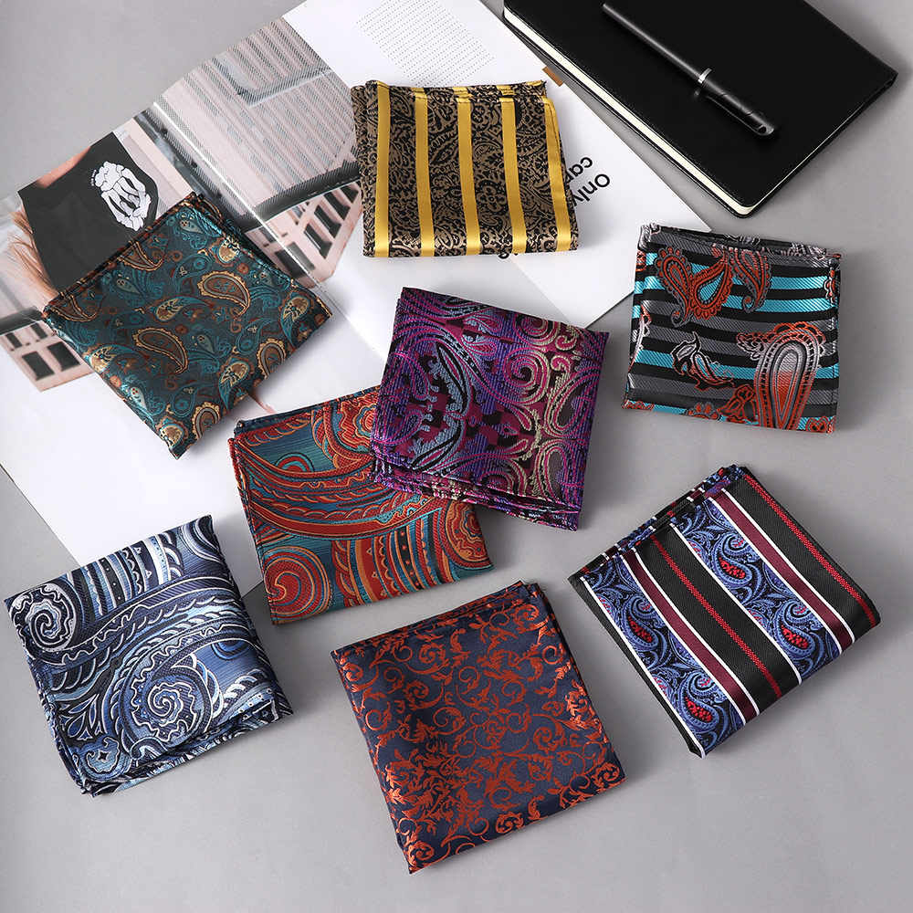 POCKET SQUARE Suit Floral Cotton Polyester Handkerchief Hanky Wedding Party