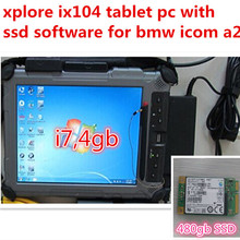 for bmw icom software mini SSD with laptop xplore IX104 tablet PC win7 expert mode 2017.07