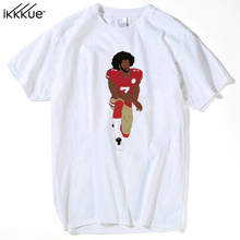 Newest Fashion Colin Kaepernick Kneeling Men T-Shirt Funny Printed Tops Short Sleeve T Shirts Hipster Cool Tee plus size m-xxxl(China)