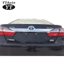 High Quality 2015 Rear Trunk Rim Moulding Rim Rear Protector ABS Chrome For TOYOTA Camry YT-71020(China)