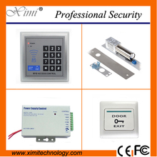 Cheap price good quality single door access control with electric lock exit button card access control system without software(China)