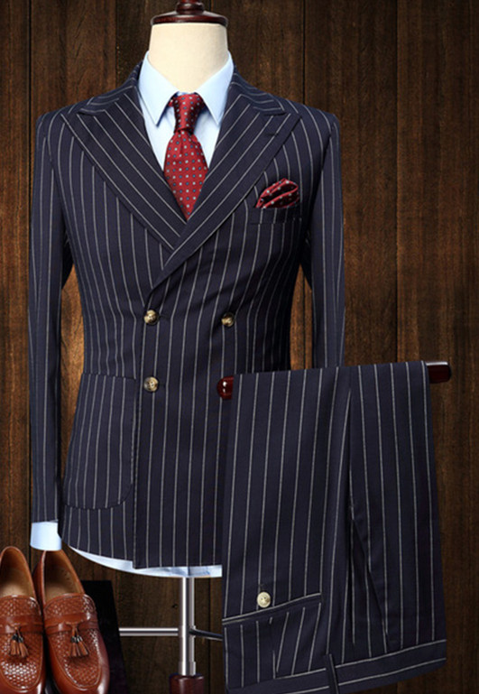 mens-suits-2-pieces-Vintage-Double-Breasted-Suit-Blue-White-Stripe-Terno-Slim-Fit-Large-Lapels