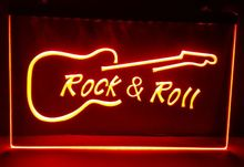 Rock and Roll Guitar Music NEW beer bar pub club 3d signs led neon light sign man cave vintage home decor