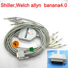 Shiller Welch allyn EKG cable 10 lead ecg cable banana 4.0 on terminal
