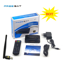 10pcs/lot DVB-S2 Freesat V7 HD Satellite TV Receiver Support PowerVu Biss Key Cccamd Newcamd Youporn 3G dongle with USB Wifi
