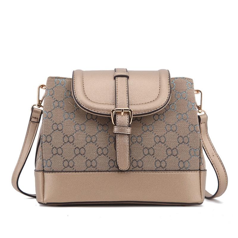 Womens Print Bucket Bag 2017 New European and American Portable Shoulder Bucket Bag Classic Fashion Print Lady Bag<br>