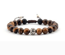 Men Bracelet 8MM Tiger Eye Tibetan Beads Shamballa Bracelet Handmade Friendship Bracelets Mens Charm Bracelet Dropship(China)