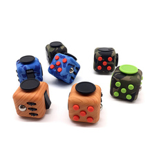 Fidget Cube Toys A Vinyl Desk Kickstarter Toys For Girl Boys Chrismtas Gifts Fidget Cube Camouflage Wood Toys Cube with box