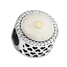 Silver beads Fits Pandora Bracelet Precious Heart Limited Edition Openwork Charm 925 sterling silver jewelry DIY making K98913(China)