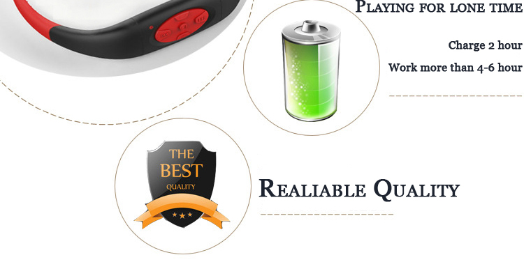 Wireless 4G Memory Card Headphone Sport MP3 Player Super Waterproof IPX8 Stereo Earphones MP3 for Swimming Hiking