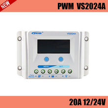 VS2024A PWM 20A solar charge controller LCD display for solar home system, traffic signal, solar street light, solar garden lamp