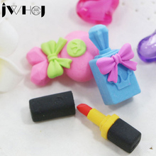 3 pcs/set JWHCJ Perfume lipstick shape removable eraser stationery office school correction supplies papelaria child's toy gift