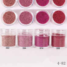 Pink Red Rose Gold Clear  Micro Mini Beads Clear AB Caviar Gardient Beads Nail Art Mini Beads 3D Nail Decoration Caviar Nail