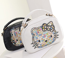 Luxury famous brand women female crossbody bags leather hello kitty handbags shoulder tote bolsos mujer de marca sac de marque 5