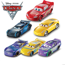 Disney Pixar Cars 3 All Series Metal Car Toy Lightning McQueen Black Storm Jackson Curz Car Model Boy Birthday Gift DXV29