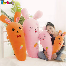 Cute Cartoon Vegetable Plants Carrot Plush Toy Soft Big Plush Bedding Pillow Carrot Rabbit Plush doll Babykids Girlfriend Gift(China)
