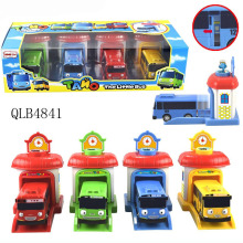 Good Scale Model tayo the little bus brinquedos Toy Action Figure 4pcs/set baby oyuncak garage tayo bus kids toys Christmas gift