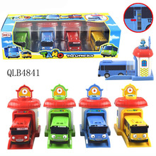 Good Scale Model tayo the little bus brinquedos Toy Action Figure 4pcs/set baby oyuncak garage tayo bus kids toys Christmas gift(China)