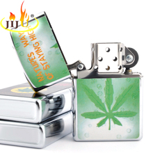 JIJU Retro Lighter Kerosene Oil Lighter Grinding Wheel Refillable Cigarette Cigar Tobacco Bar Lighters Fire Advertising 8815-30(China)