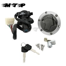 Motorcycle Ignition Switch Lock Fuel Gas Cap Cover Seat Key Set For Kawasaki Ninja 250R 2008-2012 Ninja 300 2013-2015 2014(China)