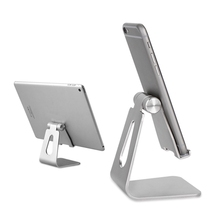 Luxury Universal Anti-Slip Tablet Mobile Phone Holder + Charge Stand Adjustable Aluminum Simple For iPad For Samsung Tablet PDA(China)