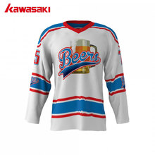 Kawasaki Brand Beers #75 Custom Ice hockey Jersey Top Men  XS-3XL Plus Size Collage Training Practice Hockey Shirts Jerseys