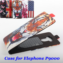 100% High Quality Leather Case For Elephone P9000 Flip Cover Case housing For Elephone P 9000 Leather Cover Mobile Phone Cases