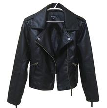 2017 new spring and autumn women's leather jackets motorcycle women short paragraph lapel PU long-sleeved leather Jackets Coats(China)